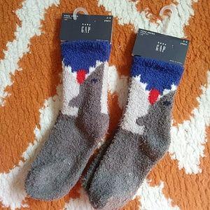 2 pack Toddler Cozy Shark socks 2 - 3T